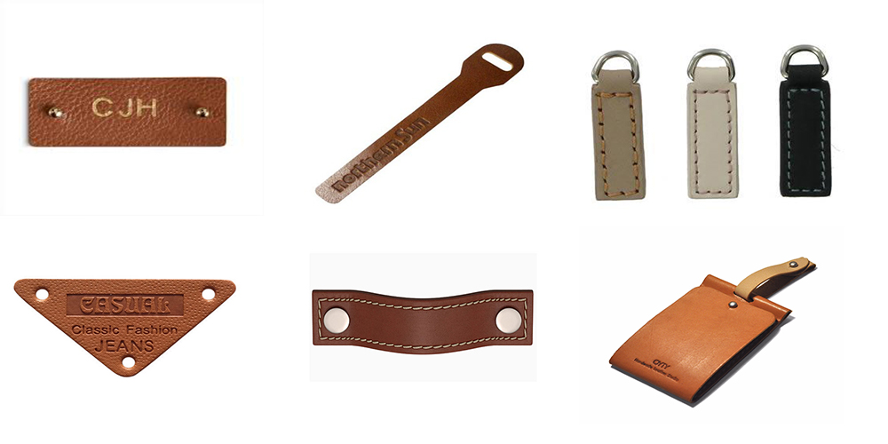 Custom Leather Tags and Pullers for Clothing