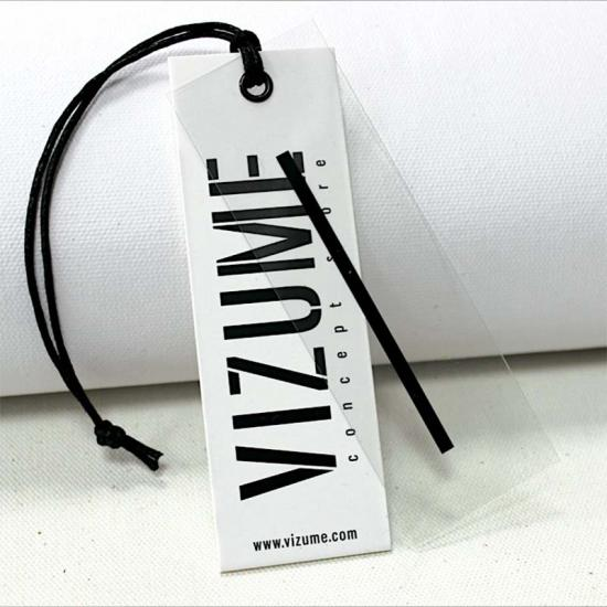 Customized Printing Clothing PVC Transparent Clear Plastic Hang Tags