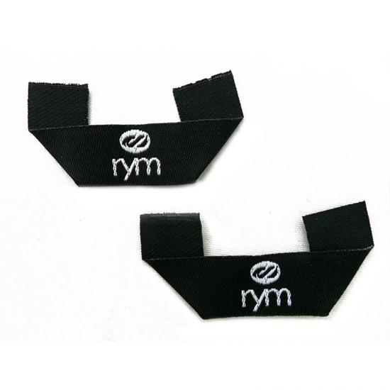 Black Base High Density Damask Woven Labels for Clothing