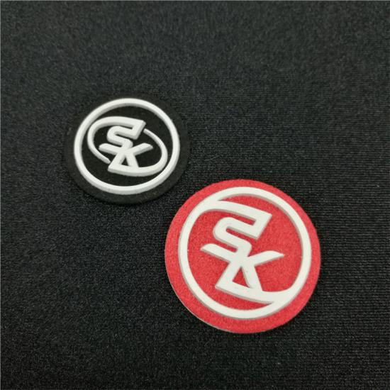 Silicone 3D Rubber Heat Transfer Logo Stickers for Clothing