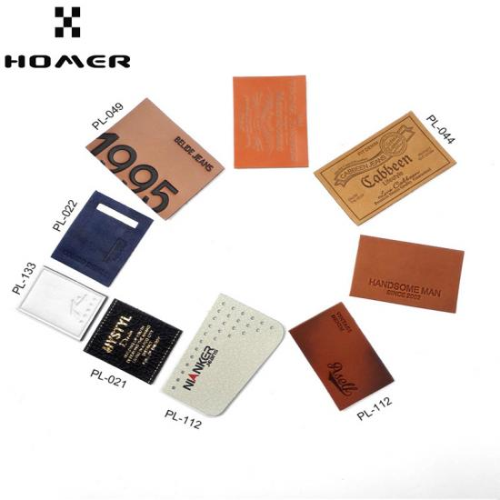 Debossed Logo Leather Labels