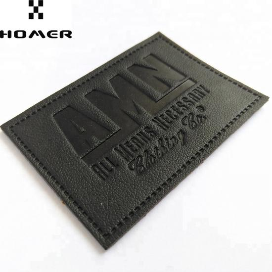 PU Leather Patches with Custom Logo for Clothing