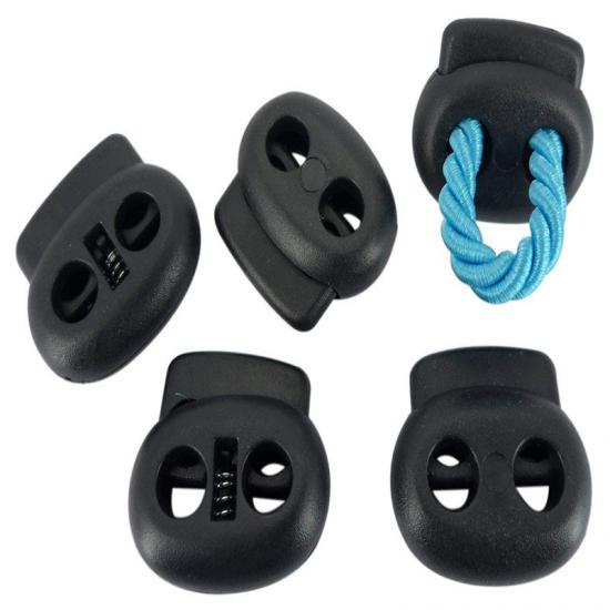Two Holes Plastic Spring Cord Lock