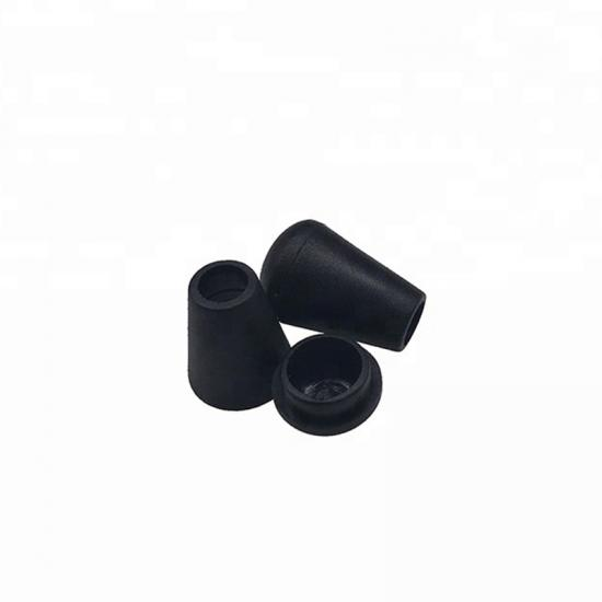 Black Hollowed Plastic Drawstring Cord End