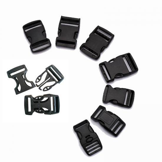 Reversible Black Bag Strap Plastic Belt Buckles