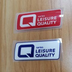 3D Raised Silicone Heat Transfer Logo Labels